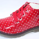 Стильные демисезонные ботинки в горошек ™ Луч 22-32 р. Качество отличное!