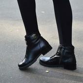 Ботинки кожаные женские осень ,36-40,10102,33