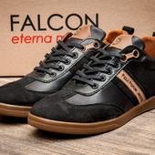Туфли Falcon Paul Parker Jeans, натур. кожа, р. 40-43, код kv-2874