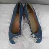 Натуральные замшевые туфли Caprice размер 40, 5 (7)