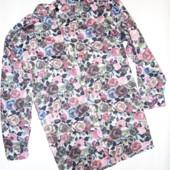 Мужская рубашка 100% коттон р.L Розы (плечи 50,ог 112, рукав 57)