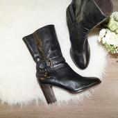 (39р./25,5см) Via Vai! Кожа! Базовые стильные ботинки на устойчивом каблуке