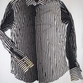 Мужская рубашка Henleys р.L  (ог 110, рукав 66, плечи 48) коттон оригинал