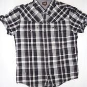 Мужская рубашка Lee р.L  (ог 104, плечи 42) на кнопках, коттон