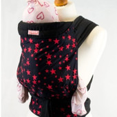 Слинг Palm and Pond baby mei tai baby carrier - black/red stars …