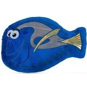 Диванная подушка декоративная для детской комнаты Рыбка Дори синий велюр