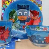 """Детская посуда из стекла """"Герои в масках"""""""