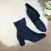 (41-42р./27см) atmosphere! роскошные ботиночки на широком каблуке с голенищем-чулком