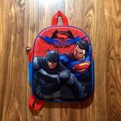 Яркий рюкзак Superman  3D на 4-7 л.