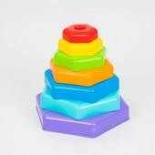 Развивающая Радужная пирамидка 39354 Тигрес пирамида