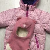 H&M курточка куртка тёплая + шапка шлем Beezy кошка в подарок
