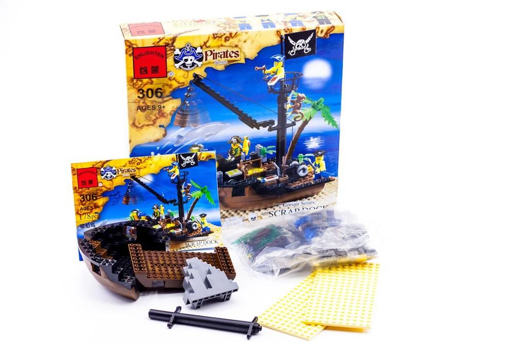 Конструктор brick 306 корабль с пиратами фото №2