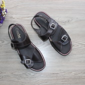 41/42 28см Pebe Кожаные мужские босоножки сандалии