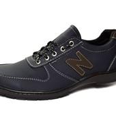 Спортивные кроссовки, мужские темно-синие МК-1-23