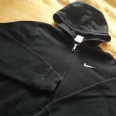 Тёплая фирменная кофта с капюшоном Nike р.46