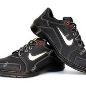 40 и 42 р Мужские кроссовки под Найк синего цвета (Ю-32с)