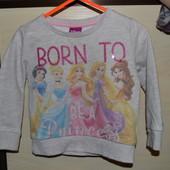 Теплый симпатичный свитер батник с принцессами