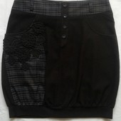 Теплая юбка с карманами ( L )