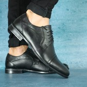 Туфли мужские классика, кожаные, р. 39-45, код gavk-10614