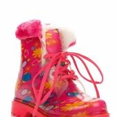 Резиновые сапоги для девочки 012-216 Dual розовый 29, 30, 32, 33, 34, 35  яркие и стильные резиновые