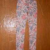 M-L, поб 48-50, джинсы узкачи с цветочным принтом скинни Mavi, эксклюзивная расцветка!