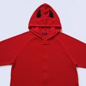 размер L, Флисовый взрослый человечек-пижама-костюм Дьявол, Primark, б/у.