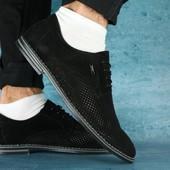 Туфли с перфорацией, замшевые, р. 39-45, код gavk-0111