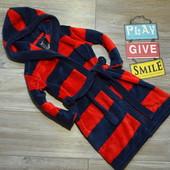 Халат с капюшоном в полоску H&M (2-4 года