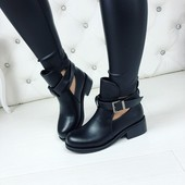 ботинки деми пряжка