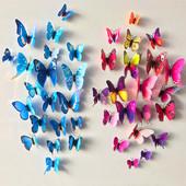 3D Бабочки наклейка на мебель, стену + магнит на холодильник