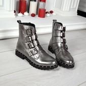 Новинка!!!! деми/зима ботинки натуральная замша / кожа код: