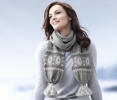 Серый зимний шарфик, германия, tcm, tchibo фото №1