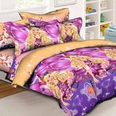 Комплект постельного белья Барби Марипоса, ранфорс