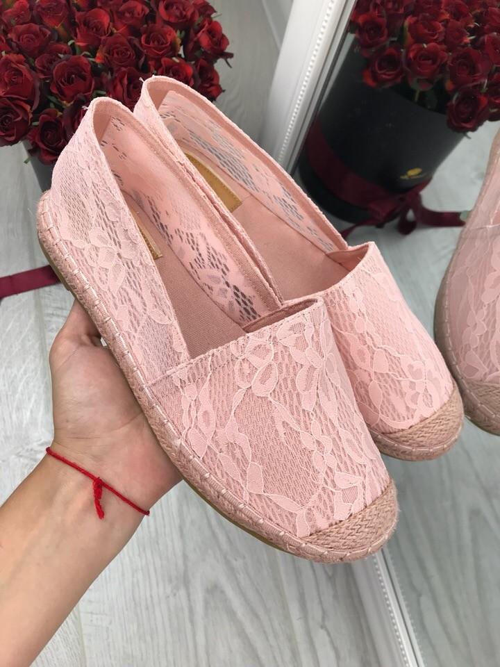 Розовые летние эспадрильи фото №1