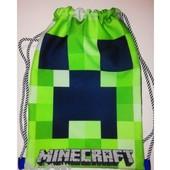 Сумка рюкзак для сменной обуви и одежды Майнкрафт Minecraft