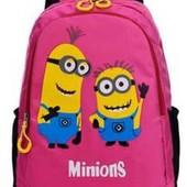 Рюкзак с Миньонами розовый