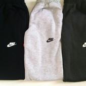 Зимние Спортивные штаны Nike. Мужские. На манжете и прямые.