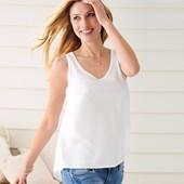 Нежная легкая комбинированная блуза от тсм Tchibo Германия р. 32/34 евро, наш 40/42