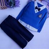 Костюмчик  Кофточка -рубашка обманка, штанишки