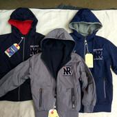 Куртка двусторонняя, рост 98-128