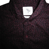 Мужская рубашка безрукавка бардовая в узорчик Cedar Wood State M
