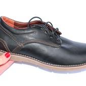 Мужские кожаные туфли черного цвета, N31
