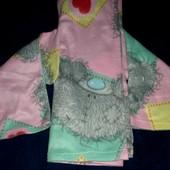 Флисовый плед-одеялко-халат для девочки (с рукавами)