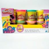Пластилин Play Doh 6 баночек Блестящая коллекция