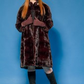 Норковая шуба италия махагон saga furs модель 2018 46-48 р.