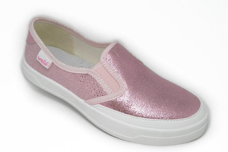 Мокасины для девочки waldi 35(р) розовый 292/279-0  текстильные тапочки waldi из фото №1
