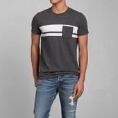 Тёмно-серая футболка с белыми вставками 1123 в С