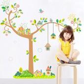 Дерево вінілова наклейка на стіну (стену стены)