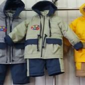 Детские весенние комбинезоны Krutto для девочек и мальчиков 1-3 года