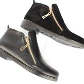 Женские кожаные/замшевые ботинки, 36-40